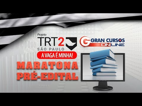 Maratona Pré-Edital TRT 2ª Região