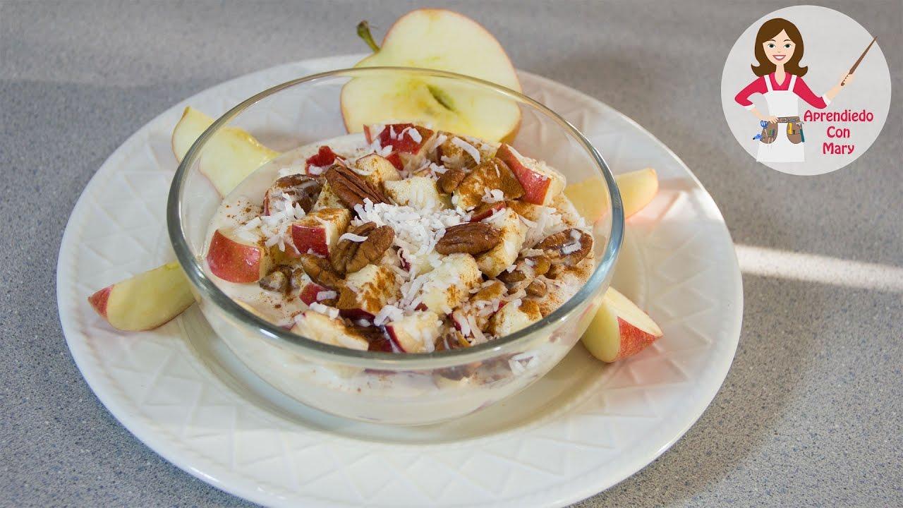Ensalada de manzanas con crema youtube - Pure de castanas y manzana ...
