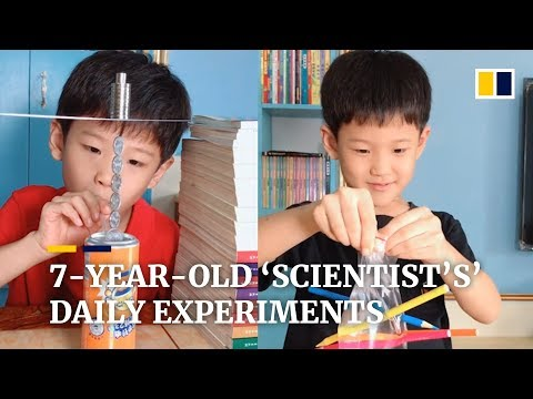 Young Chinese 'scientist' Becomes Famous Online For Daily Science Experiments
