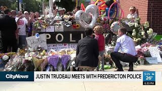 Trudeau joins Fredericton Pride parade after shooting