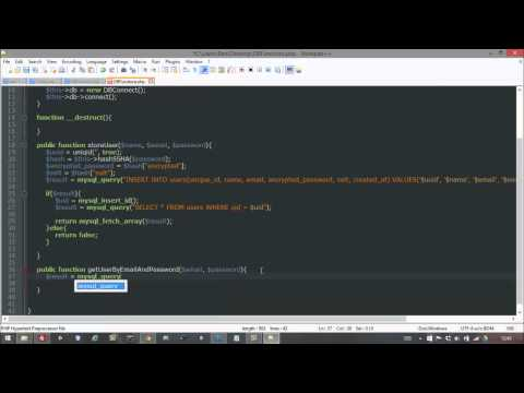 Android Login/Register tutorial with PHP & MYSQL Part 2