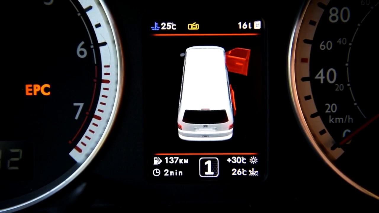 VW T4, T5 3D color MFD instrument cluster (dashboard)