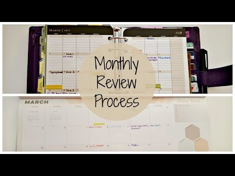 Monthly Planner Review Process