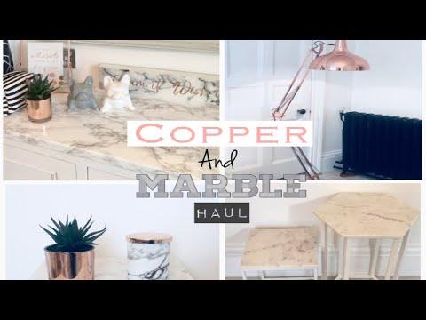 Massive Copper & Marble Home Haul | Asda | Home Bargains | The Range | Matalan | Poundland
