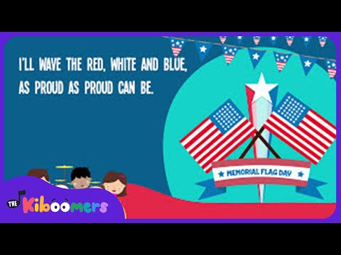 Memorial Day Flag Song for Kids | Flag Songs for Children | The Kiboomers