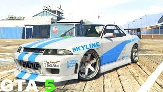 Gambar cover GTA 5 How to make nissan skyline Fast and Furious Skyline GTR