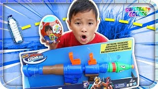 BOTTLE FLIP for Ryan's World Toys & Nerf Fortnite 🤣👍😎