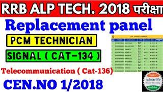 PCM Technician Replacement panel || RRB Chennai Replacement panel | ALP Technician Replacement panel