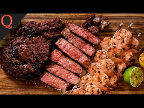 UNBELIEVABLE Surf And Turf STEAK AND SHRIMP | Ft. Kosmos Q