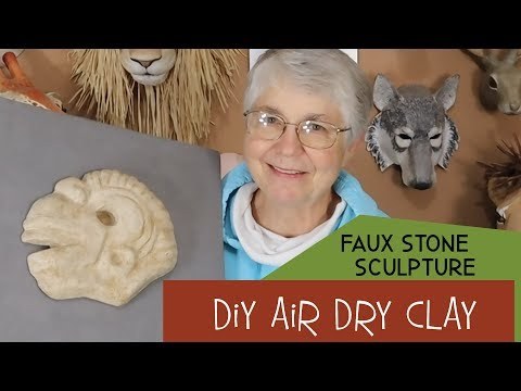Faux Stone Sculpture Made with DIY Air Dry Clay