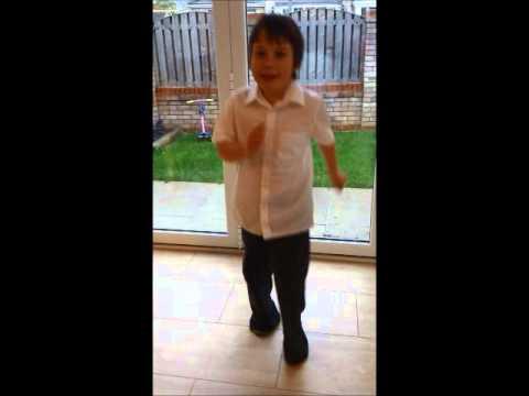 Logan singing Supercalifragilisticexpialidocious