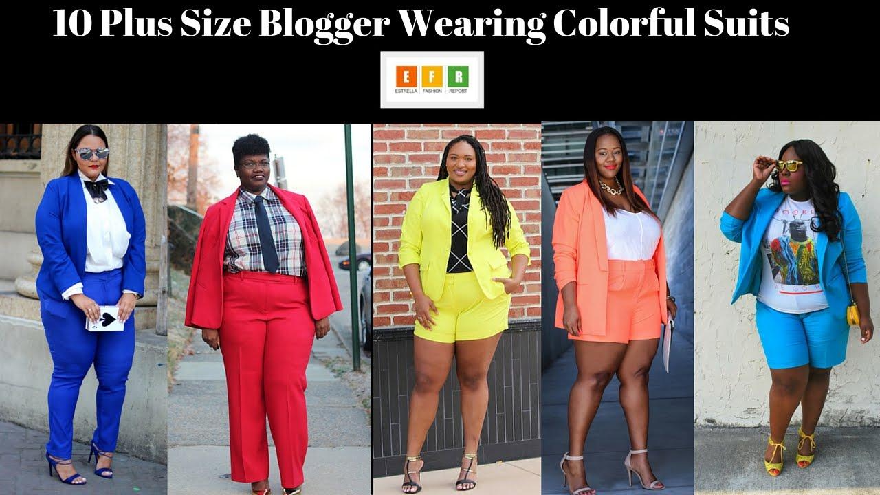 97274f9cc51f24 10 Plus Size Bloggers Wearing Colorful Suits ☆ Estrella Fashion Report