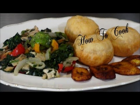Sunday Breakfast~HOW TO MAKE JAMAICAN CALLALOO & SALTFISH/FRIED DUMPLING