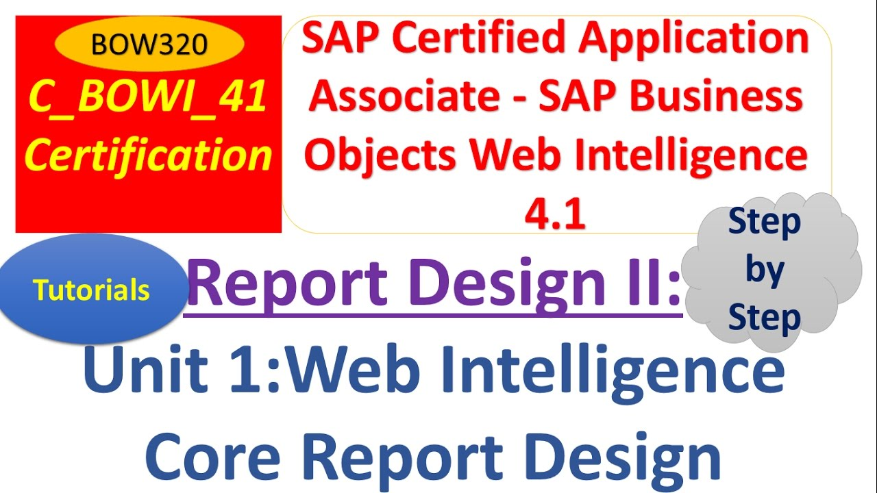 BusinessObjects Report Design II :Unit 1 : Tutorial : Core Report ...
