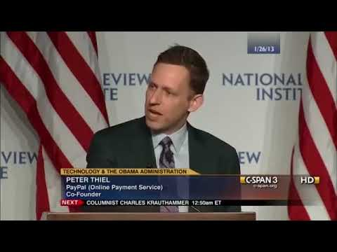 Peter Thiel on the cause of economic Stagnation