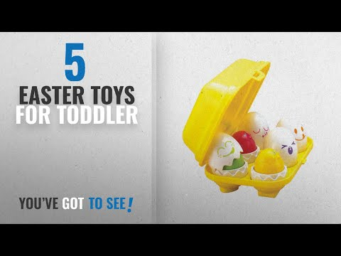 Top10 Easter Toys For Toddler [2018]: Tomy International Hide N Squeak Eggs Preschool Toy