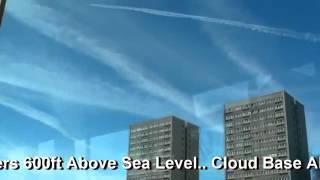 Horrific Chemtrails - Brighton, UK - 6 March 2010 - Geo Engineering
