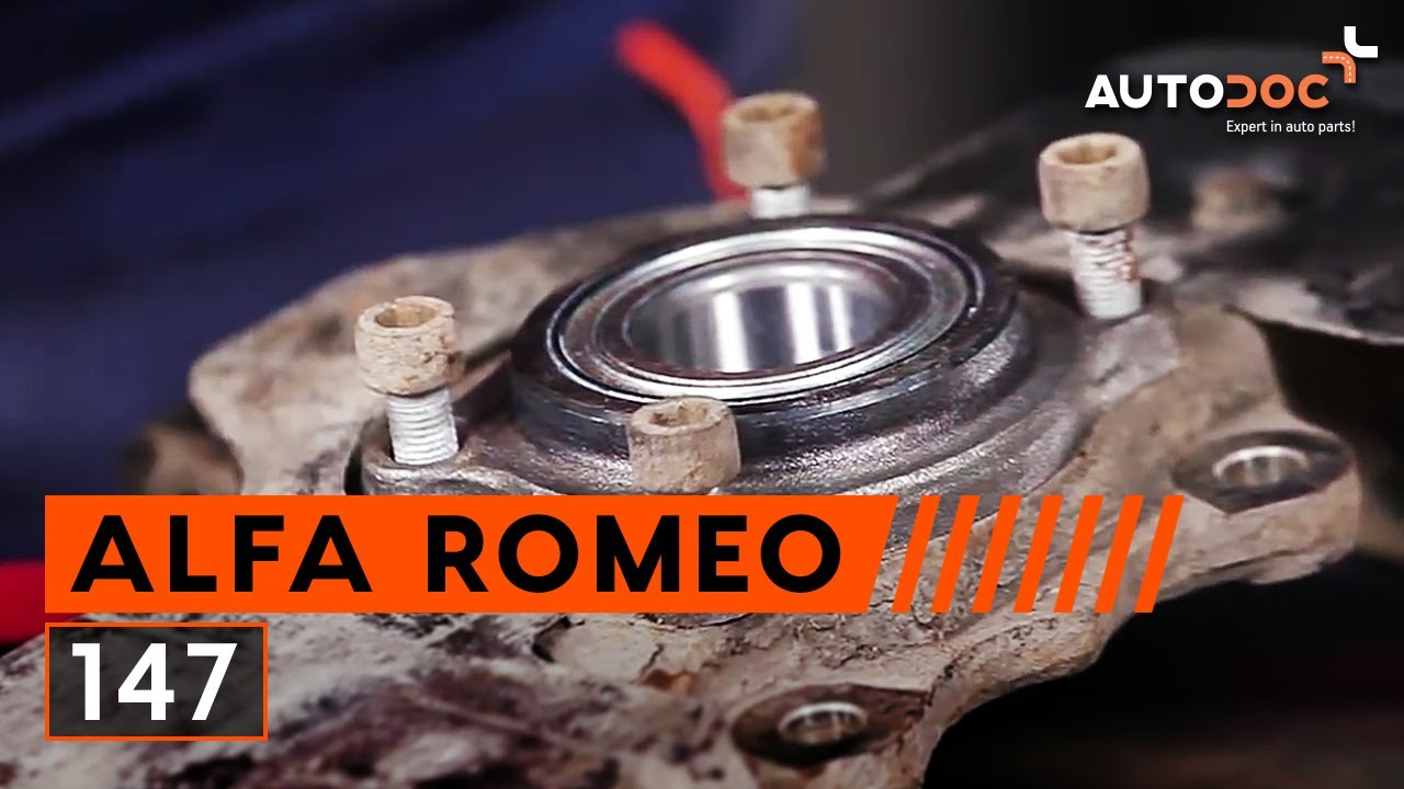 how to replace front wheel bearing on alfa romeo 147. Black Bedroom Furniture Sets. Home Design Ideas