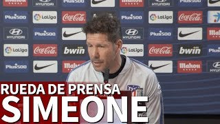 Athletic - Atlético Madrid| Rueda de prensa previa de Simeone | Diario AS