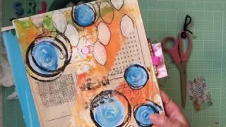 Art Journal Technique Video: Packing Tape Transfer
