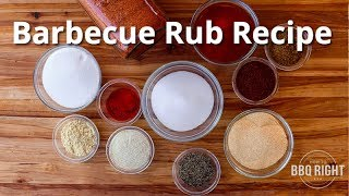 BBQ Rub Recipe - How to Make your own Barbecue Rub