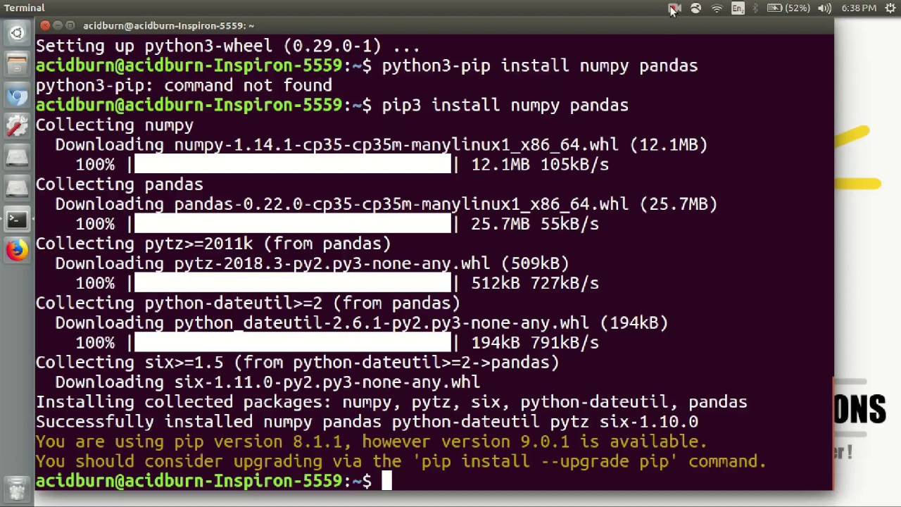 install pandas in linux mint