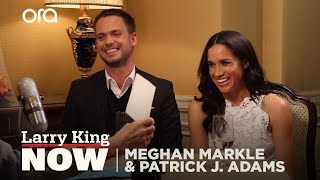 Calligraphy 101: Larry King Gets A Lesson In Penmanship With Meghan Markle