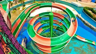 Water Slide with Multi Story Helix! Giant Aloha | West Wonder Waterpark
