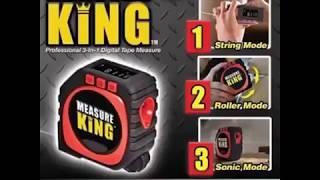 Measuring Tape Digital Display 3 in 1  Laser Measure King String Mode Sonic Mode and Roller   Mode Universal Measuring Tool