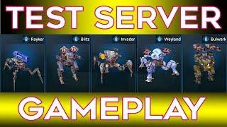 War Robots Bulwark Weyland Invader Blitz Rayker Test Server Gameplay