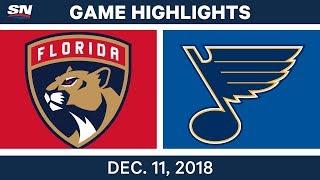 NHL Highlights | Panthers vs. Blues - Dec 11, 2018