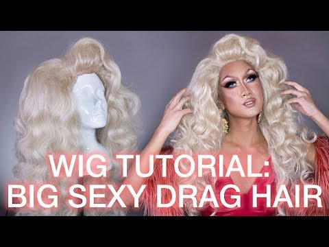 How To Tease & Style Big Curly Drag Queen Hair! Synthetic Wig Styling Tutorial