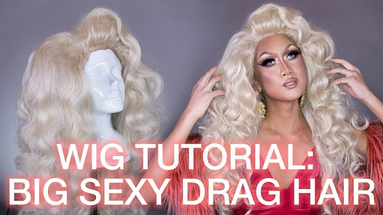 3e0f90c353f3d0 How To Tease & Style Big Curly Drag Queen Hair! Synthetic Wig Styling  Tutorial