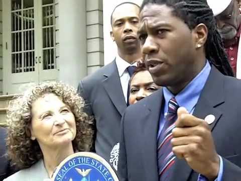 Jumaane Williams, NYC Council member on NYPD Stop & Frisk Database @ City Hall Sun 5/23/2010