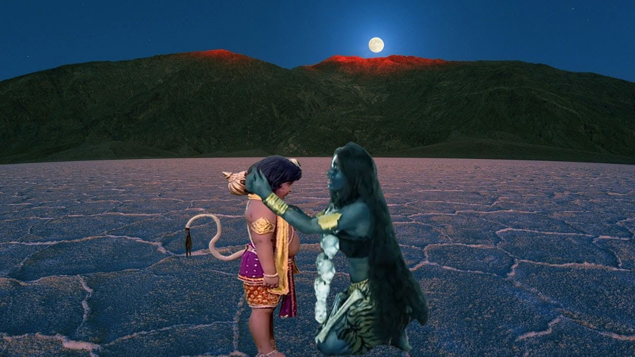 हनुमान और माँ काली   Maa Kali & Hanuman & Jagdamba
