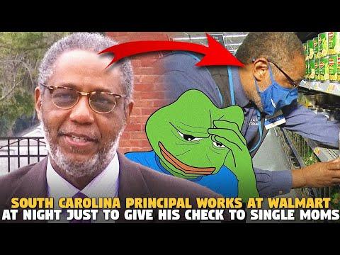 South Carolina Principal Works At Walmart At Night Just To Give His Check to Single Moms