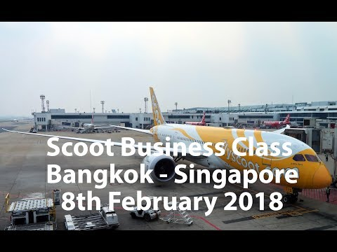 LOW COST AIRLINE BUSINESS CLASS??? ScootBiz Flight TR869 from Bangkok to Singapore