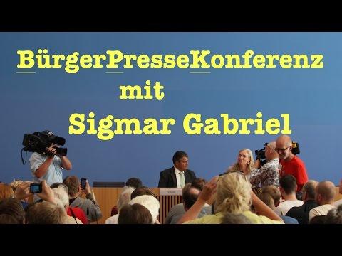 BürgerPresseKonferenz mit Sigmar Gabriel - Tag der offenen Tür in der BPK