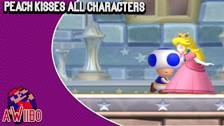 Peach Kisses All Characters in New Super Mario Bros U. Deluxe