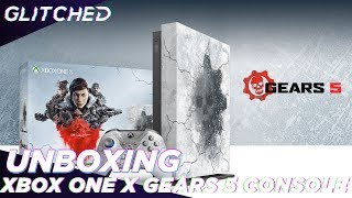 Gears 5 Xbox One X Limited Edition Console Unboxing