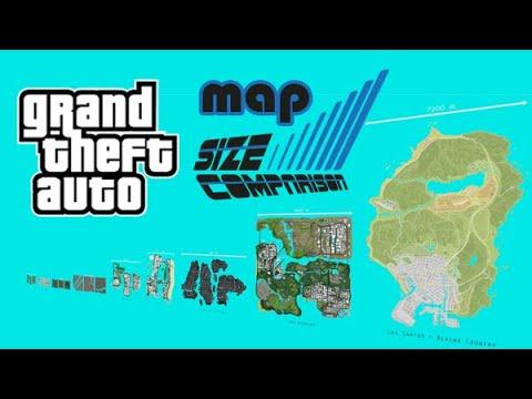 GTA Map Size Comparison