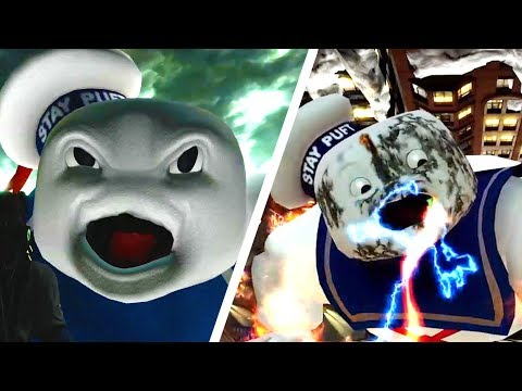 Ghostbusters Remastered - Stay Puft Marshmallow Man Boss Fights & Cutscenes (PS4)
