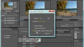 Изменение скорости клипов в Adobe Premiere CS4 (19/39)