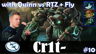 Crit - Tiny Roaming | with Quinn | vs Arteezy + Fly | Dota 2 Pro MMR Gameplay #10