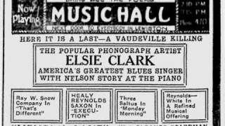 Elsie Clark - Cry Baby Blues (1921)