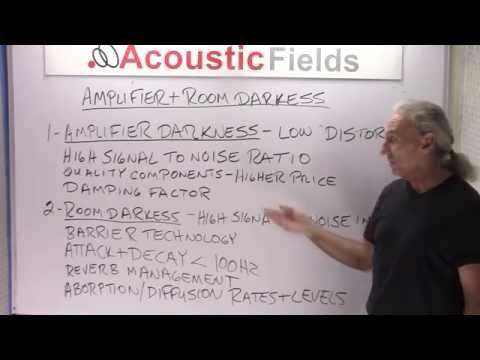 Amplifier & Room Darkness - www.AcousticFields.com