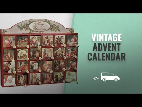 Our Favorite Vintage Advent Calendar [2018]: Vintage Santa Wooden Advent Calendar with Doors from