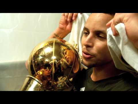Stephen Curry Finals Phantom Raw: Holding the Trophy