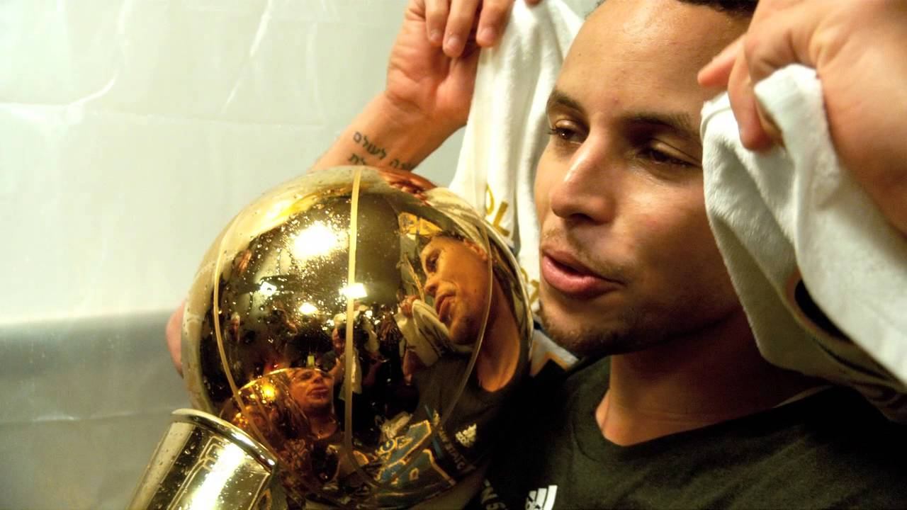Stephen Curry Finals Phantom Raw Holding The Trophy