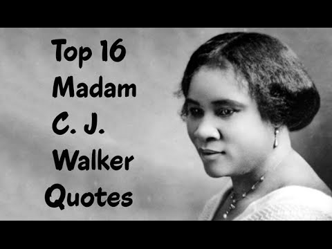 Madam Cj Walker Quotes Top 16 Madam Cjwalker Quotes  The African American .
